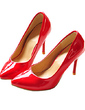 Women's Patent Leather Stiletto Heel Pumps Closed Toe shoes (085013624)