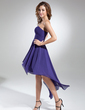 A-Line/Princess Sweetheart Asymmetrical Chiffon Homecoming Dress With Ruffle (018015523)