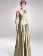 Çan/Prenses V Yaka Uzun Etekli Şarmöz Gelin Annesi Elbisesi Ile Büzgü Boncuk (008006308)