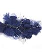 Lovely Rhinestone/Net Yarn Flowers & Feathers (042028737)