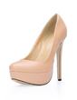 Leatherette Stiletto Heel Pumps Platform Closed Toe shoes (085020585)