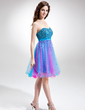 Empire Sweetheart Knee-Length Tulle Homecoming Dress With Beading Sequins (022016311)