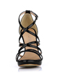 Women's Patent Leather Stiletto Heel Sandals Peep Toe shoes (087017925)