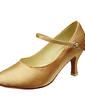 Women's Satin Heels Pumps Ballroom Dance Shoes (053013240)