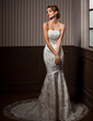 Trumpet/Mermaid Sweetheart Chapel Train Lace Wedding Dress With Beading Sequins (002014265)