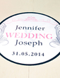 Personalized Feather PVC Dance Floor Decals (118033749)