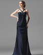 Sheath/Column Sweetheart Floor-Length Charmeuse Evening Dress With Ruffle Beading (017002273)