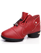 Women's Real Leather Sneakers Practice Dance Shoes (053056756)