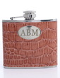 Personalized Brown Stainless Steel/Leatherette 140ml(5-oz) (118031094)