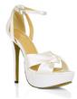 Women's Silk Like Satin Stiletto Heel Platform Sandals With Buckle Rhinestone (047016977)
