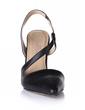 Leatherette Cone Heel Pumps Closed Toe Slingbacks shoes (085026441)