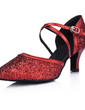 Women's Leatherette Sparkling Glitter Heels Pumps Modern Ballroom Dance Shoes (053008918)