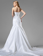 Trumpet/Mermaid Sweetheart Chapel Train Taffeta Wedding Dress With Ruffle Lace Beading (002001350)