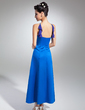 Empire V-neck Ankle-Length Satin Bridesmaid Dress With Beading Cascading Ruffles (007015042)