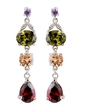 Exotic Alloy With CZ Cubic Zirconia Women's Fashion Earrings (011036717)
