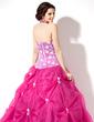 Balo Elbisesi Yular Uzun Etekli Organza Lace Quinceanera (15 Yaş) Elbisesi Ile Büzgü (021003139)
