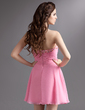 A-Line/Princess Sweetheart Short/Mini Chiffon Homecoming Dress With Ruffle Beading (022016295)