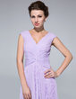 A-Line/Princess V-neck Floor-Length Chiffon Mother of the Bride Dress With Pleated (008018973)
