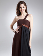 Empire One-Shoulder Floor-Length Chiffon Prom Dress With Ruffle (018015898)