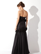 Trumpet/Mermaid Strapless Floor-Length Taffeta Evening Dress With Flower(s) (017002572)