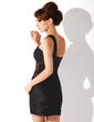 Sheath/Column One-Shoulder Short/Mini Charmeuse Cocktail Dress With Ruffle Lace (016008859)