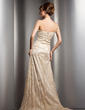 A-Line/Princess One-Shoulder Sweep Train Lace Mother of the Bride Dress With Beading Split Front (008005973)