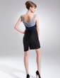 Sheath/Column Off-the-Shoulder Short/Mini Taffeta Mother of the Bride Dress With Ruffle Beading (008006621)