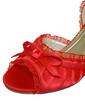 Kadın Satin İnce Topuk Peep Toe Pompalar Sandalet Ile Ilmek (047057121)