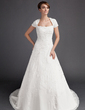 A-Line/Princess Sweetheart Chapel Train Chiffon Wedding Dress With Embroidered Beading (002015904)