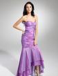 Trumpet/Mermaid Sweetheart Asymmetrical Taffeta Prom Dress With Ruffle Beading (018014967)