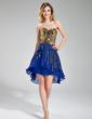 A-Line/Princess Sweetheart Asymmetrical Chiffon Sequined Prom Dress (018019680)