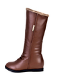 Leatherette Low Heel Mid-Calf Boots shoes (088056001)