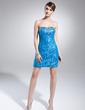 Kılıf Kalp Kesimli Asimetrik Satin Lace Mezuniyet Elbisesi Ile Büzgü Boncuklama (018015022)
