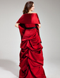A-Line/Princess Sweetheart Floor-Length Satin Bridesmaid Dress With Ruffle Sash (007000980)