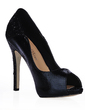 Leatherette Stiletto Heel Sandals Peep Toe shoes (085016471)
