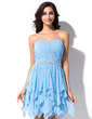 A-Line/Princess Sweetheart Asymmetrical Chiffon Homecoming Dress With Beading Sequins Cascading Ruffles (017030908)