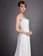 Empire Sweetheart Sweep Train Chiffon Wedding Dress With Ruffle Beading (002011591)
