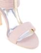 Leatherette Stiletto Heel Sandals Pumps Peep Toe shoes (087039118)