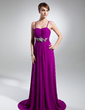 A-Line/Princess Sweetheart Sweep Train Chiffon Evening Dress With Ruffle Beading (017015321)