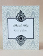 Personalized Floral Design Hard Card Paper Thank You Cards (Set of 50) (118029393)