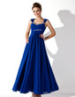 A-Line/Princess V-neck Ankle-Length Chiffon Prom Dress With Ruffle Beading (018020927)