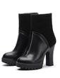 Gerçek Deri Kalın Topuk Ayak bileği Boots ayakkabı (088057282)