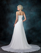 A-Line/Princess Sweetheart Chapel Train Chiffon Wedding Dress With Ruffle Beading Sequins (002011452)