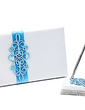 Teal Scroll Sash Guestbook & Pen Set (101018164)