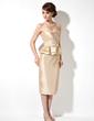 Wąska Kochanie Do Kolan Tafta Suknia dla Mamy Panny Młodej Z Żabot Perełki (008003203)