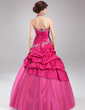 Ball-Gown Halter Floor-Length Taffeta Tulle Quinceanera Dress With Embroidered Ruffle Beading (021002885)