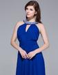 A-Line/Princess Scoop Neck Floor-Length Chiffon Evening Dress With Ruffle Beading (017025689)