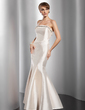 Trumpet/Mermaid Strapless Floor-Length Satin Evening Dress With Beading (017014831)