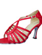 Women's Satin Heels Sandals Latin Ballroom Dance Shoes (053012989)