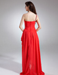 A-Line/Princess One-Shoulder Asymmetrical Chiffon Prom Dress With Ruffle Beading Cascading Ruffles (018015942)